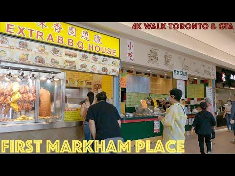 First Markham Place - Shopping Centre: 4K Walk Toronto & GTA, Ontario, Canada