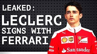 Leaked: Leclerc Signs with Ferrari - Mercedes Defends Vettel - F1 Will Not Become Electric