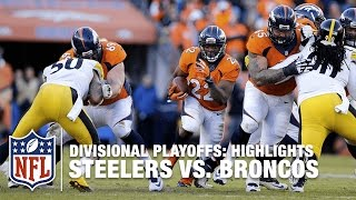 Steelers vs. Broncos | Divisional Playoff Highlights | NFL