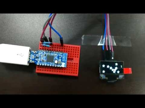 I2C example using LCD in nRF52840 Dongle (BLE 5 0)