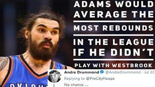 Andre Drummond Disrespects Steven Adams On Twitter (RANT)