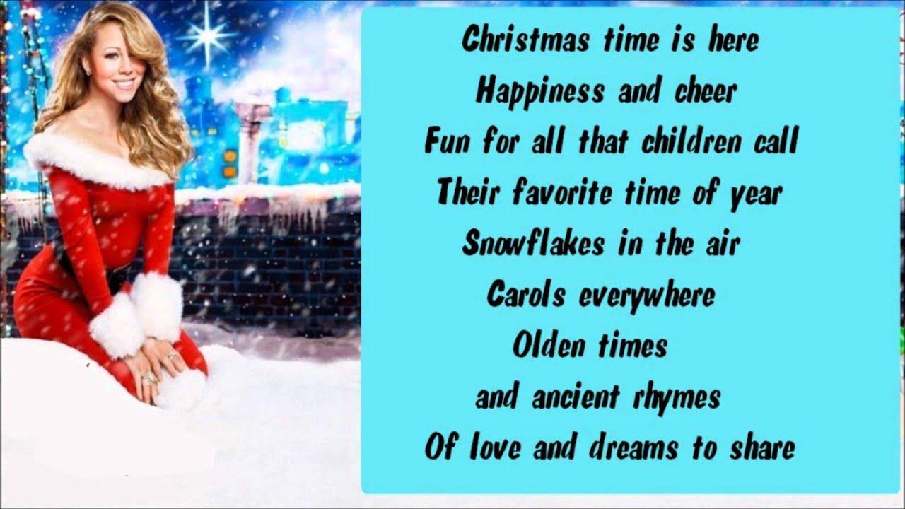 Mariah Carey Charlie Brown Christmas Lyrics Youtube