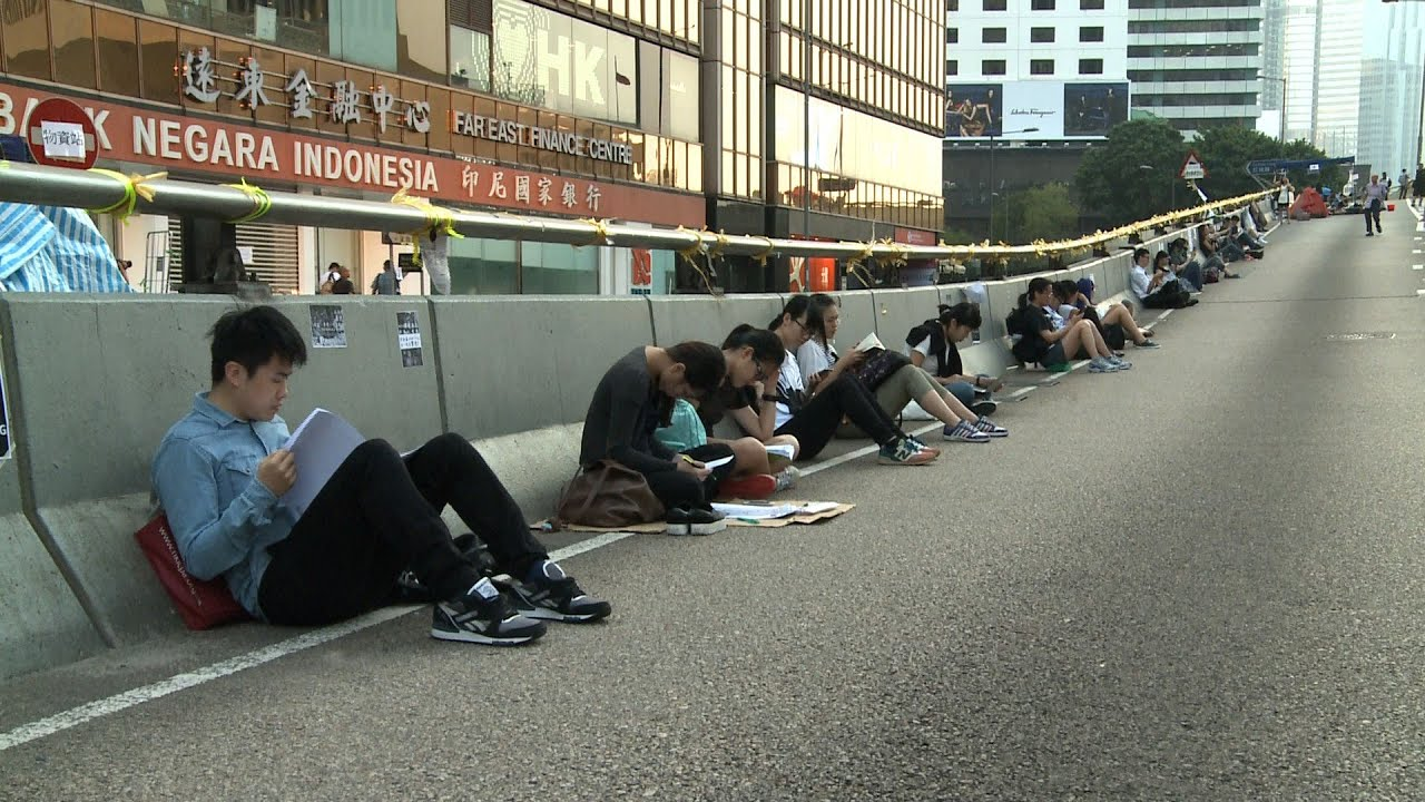 Tents Remain, But Protesters Are Fading in Hong Kong
