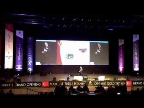 Organo Gold Turkey Istanbul - Grand Openning March 8, 2015 - Presentation 2