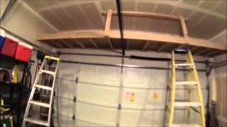 Building a shelf above the garage door