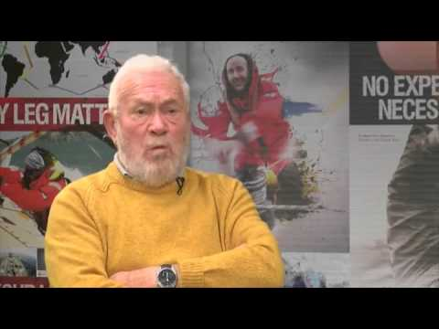 sailor Sir Robin Knox-Johnston on the two yachtsmen