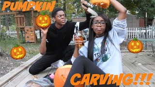 How to Absolutely Carve Your Pumpkin the Wrong Way With Brandon ! | AlliCattt