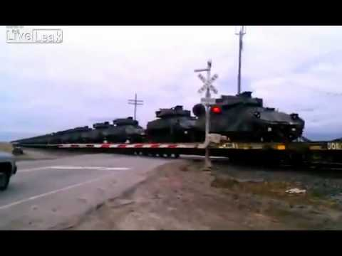 Military industrial complex IS SOMETHING BREWING 100'S OF ARMOR BEING TRANSPORTED CA
