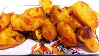 Китайская кухня. Жареные бананы в карамели 拔丝香蕉
