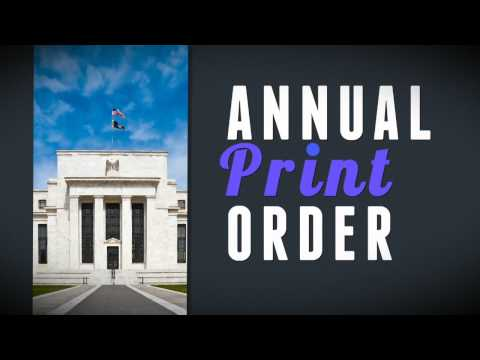 How does the Federal Reserve Board determine how much money to order each year?