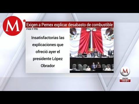 PRI y PAN exigen a Pemex explicar desabasto de gasolina