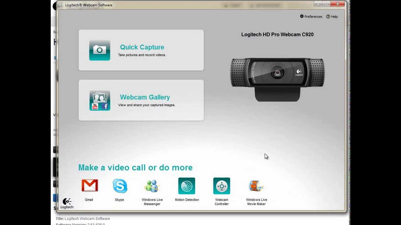 logitec webcam software