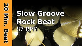20 Minute Backing Track - Slow Groove Rock 87 BPM