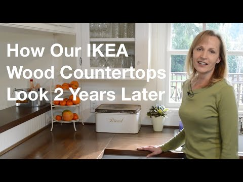 How Our Diy Ikea Butcher Block Wood Countertops Look 2 Years Later Anoregoncottage
