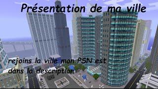 Présentation de ma ville minecraft PS3