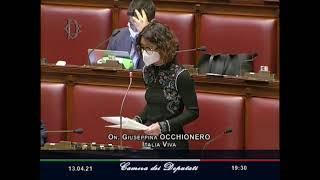 L'intervento sulle politiche della famiglia dell'onorevole Giusy Occhionero nell'aula a Montecitorio