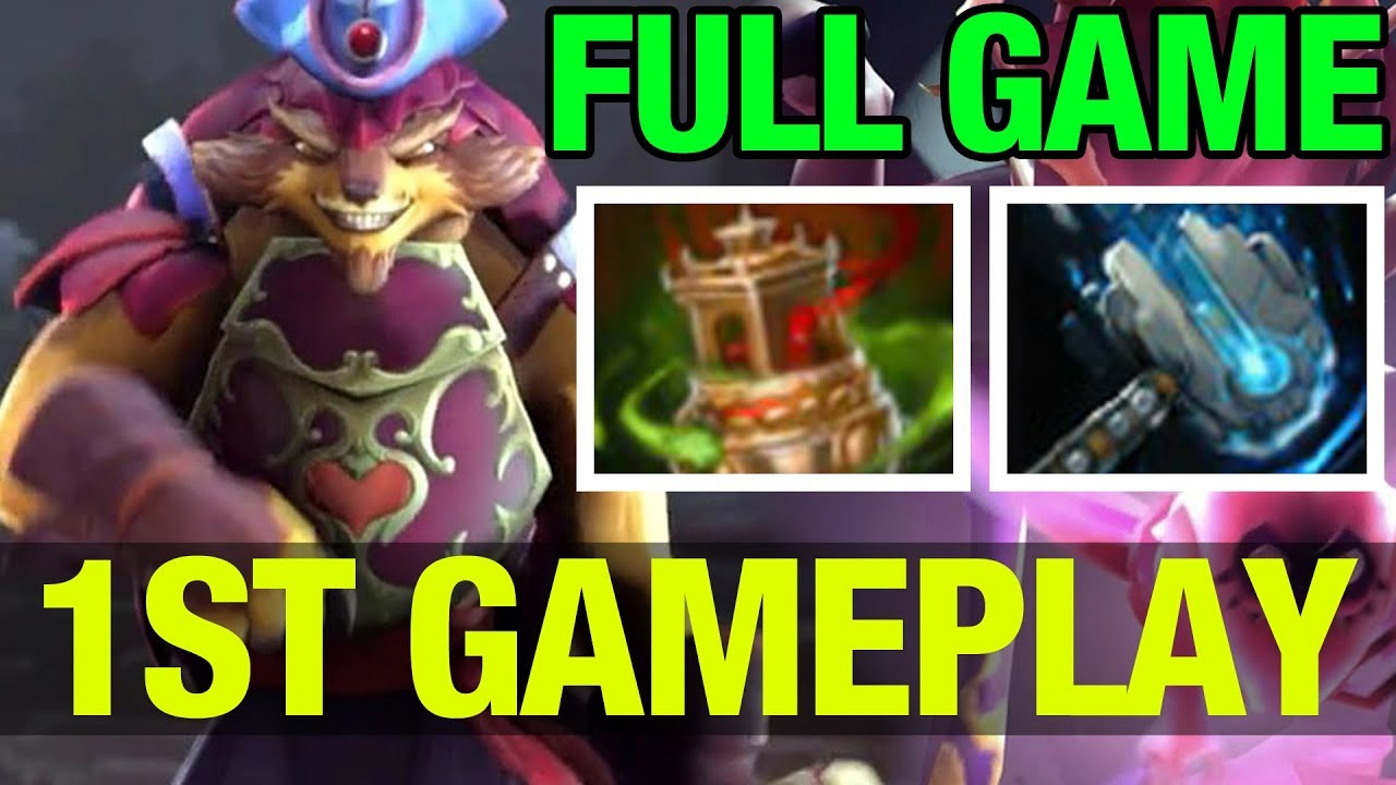 1st pangolin gameplay new hero and new items dota 2 youtube