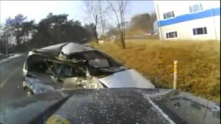 Dashcam Captures Head on Collision