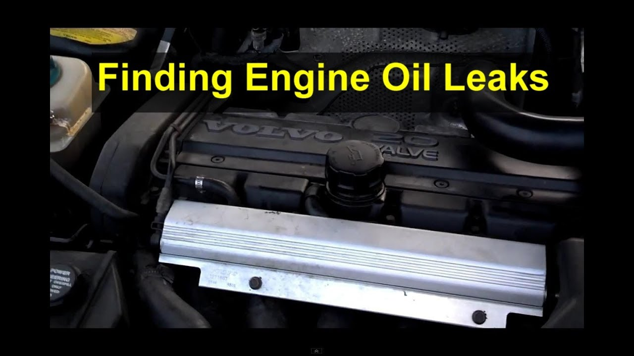 How to find oil leaks on a Volvo white block engine. S60, XC90, V70XC, S80, S70, 850, 960, etc ...