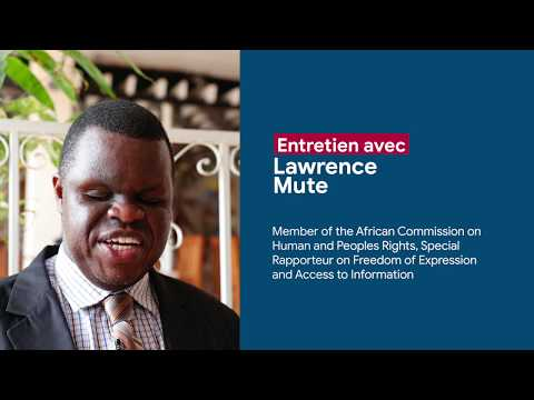Interview with Lawrence Mute , Member of the African Commission on Human and Peoples Rights