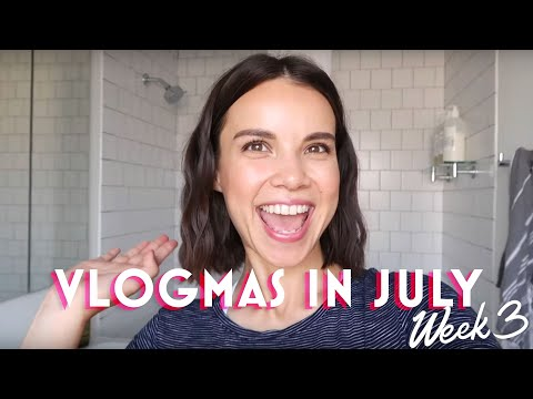 What's in My Bathroom? Products I'd Never Leave Behind! - VLOGMAS in July #3   Ingrid Nilsen thumbnail