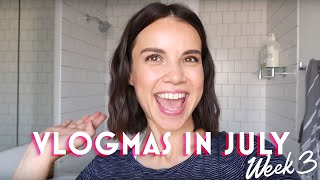 What's in my bathroom: products I'd never leave behind - VLOGMAS in July #3   Ingrid Nilsen