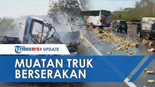 Video Detik-detik Seusai Kecelakaan Tol Cipularang, Truk Wing Box Tutup Jalan & Muatan Berserakan