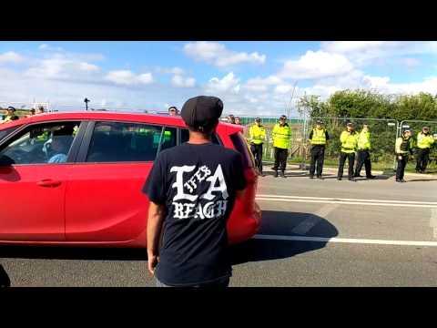 """We said NO!"" Anti Fracking protest A583 Little Plumpton,Lancashire"
