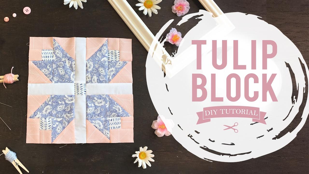 Agf Quilt Block Collection Tulip Quilt Block Tutorial Youtube