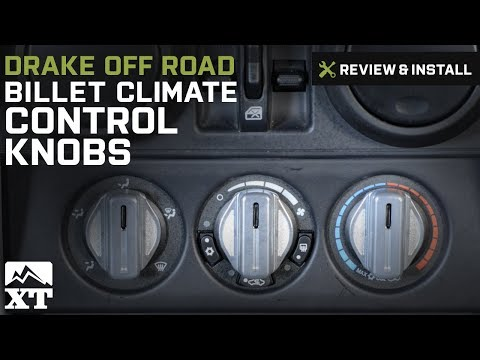 Jeep Wrangler Drake Off Road Billet Climate Control Knobs (2007-2010 JK) Review & Install