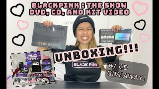 BLACKPINK : THE SHOW DVD, CD, AND KIT VIDEO UNBOXING + CD GIVEAWAY! ✨