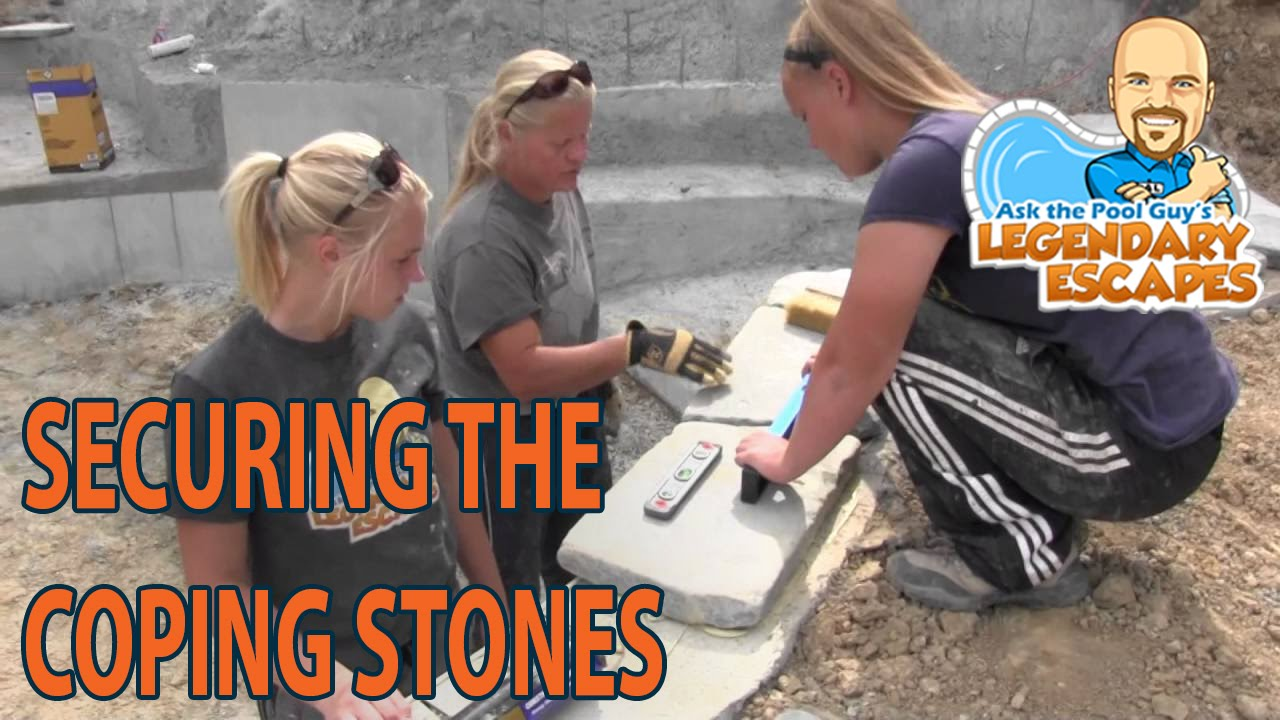 Ask The Pool Guy Legendary Escapes Grout For Coping Stones Hybrid Swimming Build