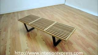 Interiorexpress Nelson Bench Natural Wood Color Wood Platform Bench Table