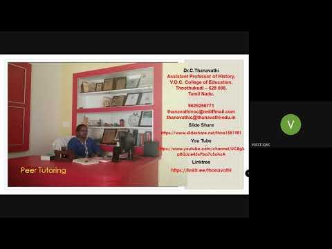 Peer Tutoring Lecture Video - 1 Advanced Techniques of Instruction Unit IV