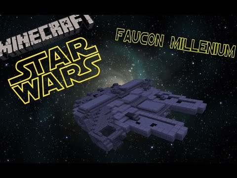 minecraft tuto faucon millenium star wars youtube. Black Bedroom Furniture Sets. Home Design Ideas