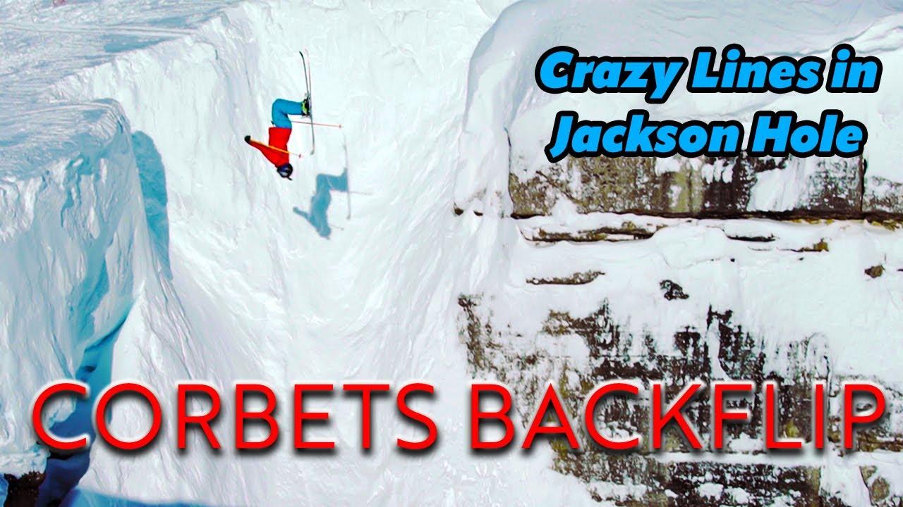 Jackson Hole Skiing, Corbet's Couloir Backflip, Cliff drops and Powder | Owen Leeper