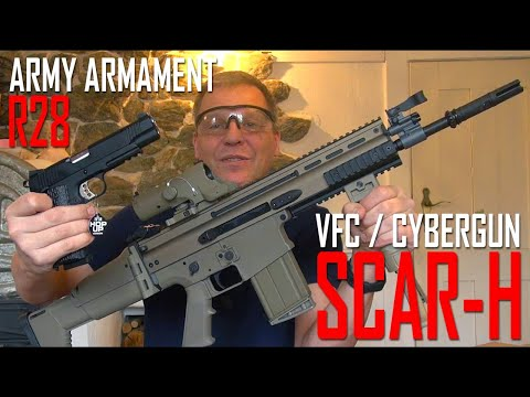 *Airsoft Unboxing* VFC / Cybergun SCAR H GBB, Army Armament R28 1911