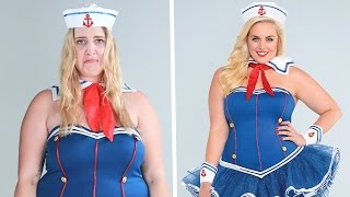 Plus-Size Women Try On One-Size Halloween Costumes thumbnail