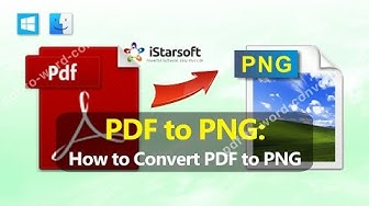 PDF to PNG - How to Convert PDF to PNG