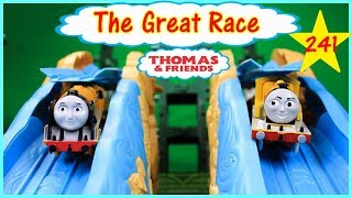 THOMAS AND FRIENDS THE GREAT RACE #241 TRACKMASTER ACTION CANYON RACE Thomas Toy Trains for Kids