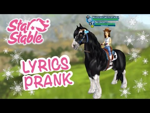 Cold Water | LYRICS PRANK || Star Stable Online #StarFam