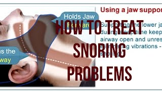 How to Treat Snoring Problems