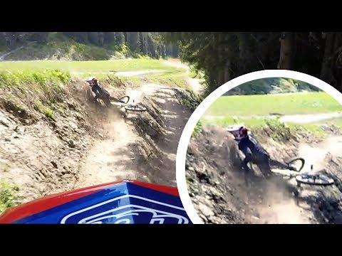 Oh, oh - ob das gut geht? Downhill Crash mit Vollgas   Felix´s Welt