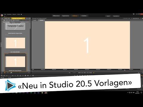 Neu in Pinnacle Studio 20 5 Projekt Vorlage erstellen Video Tutorial Deutsch