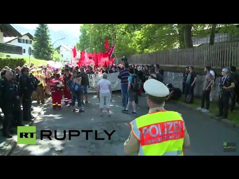 LIVE: Protesters rally in Garmisch-Partenkirchen against G7 Summit