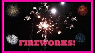 SHOOTING OFF FIREWORKS IN MYRTLE BEACH!