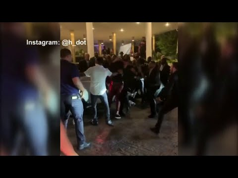 Bottles fly inside LIV Nightclub, punches outside Fontainebleau