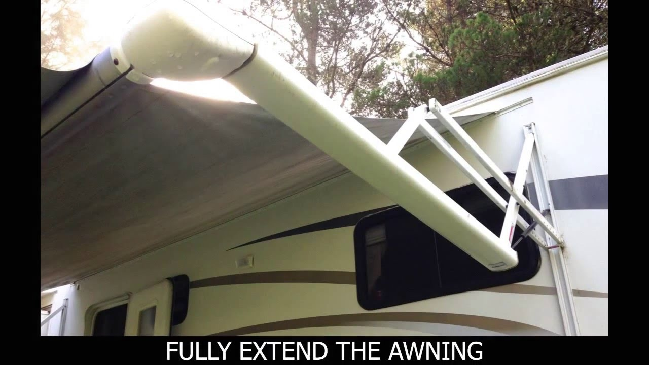 How To Replace An Electric Awning Fabric Youtube