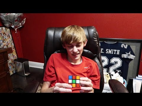 Logan Solves Rubiks Cube in UNDER 1 MINUTE!