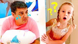 Nastya và một câu chuyện vui về cách bố lấy dằm ra